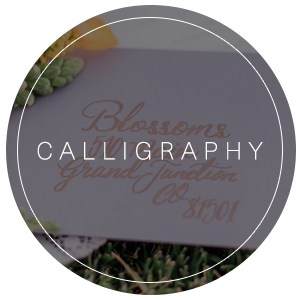 Wedding Calligraphy and Invitations in Colorado's Western Slope | WEDWestSlope - Grand Junction, Ouray, Telluride, Crested Butte, Glenwood Springs, Montrose & Beyond