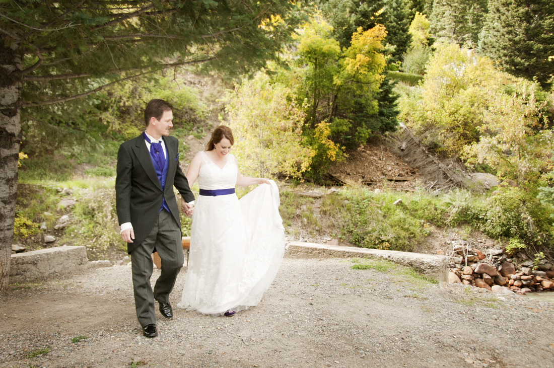 September Wedding at Secret Garden B&B in Ouray by Karen Skelly Photography, featured on WED West Slope - a wedding planning resource for western Colorado.